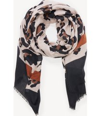 women's lightweight leopard print stripe scarf brown combo from sole society