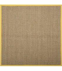 safavieh natural fiber natural and gold 6' x 6' sisal weave square area rug