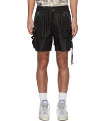 leather cargo shorts