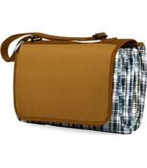 oniva by picnic time english plaid & camel blanket tote outdoor picnic blanket