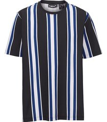 t-shirt men plus zwart::royal blue