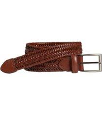 johnston & murphy men's leather braided belt