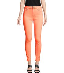 7 for all mankind women's high-rise ankle skinny jeans - red - size 25 (2)