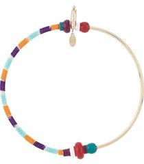 missoni oversized braided hoop earrings - gold