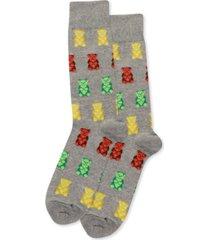 hot sox men's gummy bears crew socks