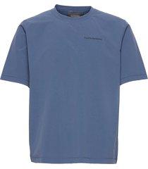 m tech dry tee t-shirts short-sleeved blå peak performance