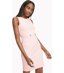 tommy hilfiger women's essential sleeveless shift dress ballerina pink - 2