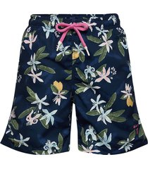 boy's swim shorts lemon flowers badshorts blå gant