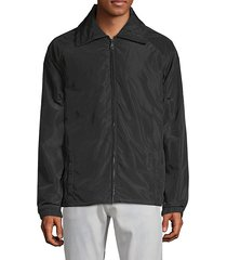 raglan-sleeve graphic jacket