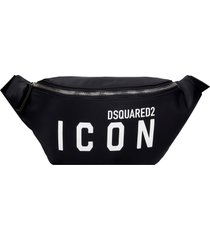 dsquared2 waist bag in black nylon