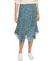 1.state woodland floral midi skirt