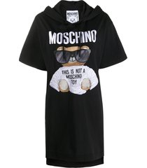 moschino micro teddy bear jersey dress - black