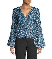floral-print long-sleeve top