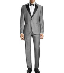 regular fit peak lapel suit