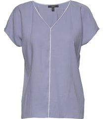 blouses woven blouses short-sleeved blå esprit collection