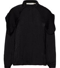 claraiw scarf blouse blouse lange mouwen zwart inwear