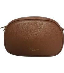 bolsa pochete transversal house of caju couro alta qualidade prática preto