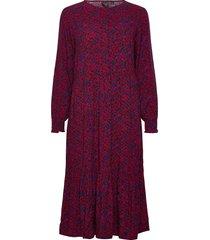 henley midi dress knälång klänning röd gap