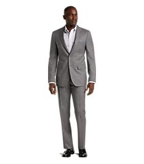 reserve collection slim fit windowpane plaid reda 1865 sustainawool men's suit by jos. a. bank