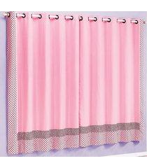 cortina 2 metros clarinha rosa com 1 peças - valle enxovais