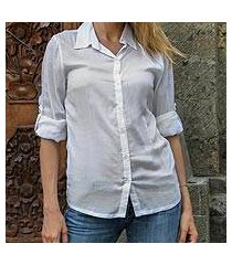 rayon blouse, 'white balinese pearl' (indonesia)