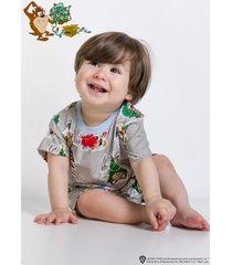 pijama e camisola acuo pijama e camisola cinza - cinza - dafiti