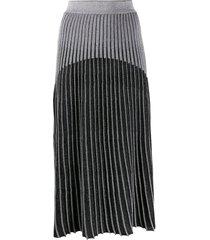 ribbed knit skirt black