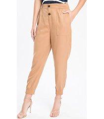 calça sport bolsos frontais - nude - 36
