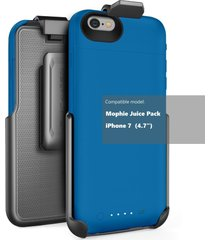 "belt clip holster for mophie juice pack battery case - iphone 7 (4.7"") by encase"