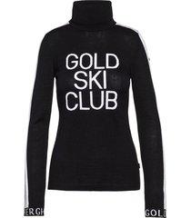 gebreide sweater met col club  zwart