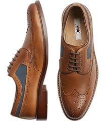 joseph abboud ethan cognac wingtip dress shoes