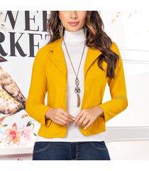 blazer araceli amarillo para mujer croydon