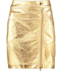 moschino zipped mini skirt