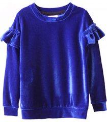bluza velour blue
