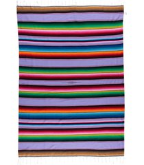 native yoga large mexican serape blanket lavender cotton