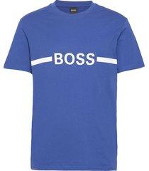 t-shirt rn slim fit t-shirts short-sleeved blå boss