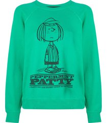 marc jacobs x peanuts the men's sweatshirt - green