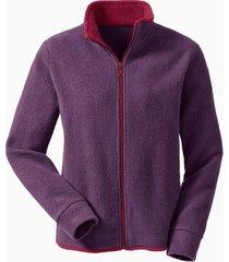 fleece vest, pruim/bes m