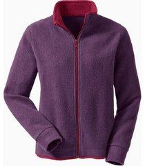 fleece vest, pruim/bes s