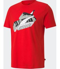 camiseta puma sneaker inspired vermelha masculina