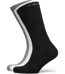 ck men crew 6p antonio underwear socks regular socks grå calvin klein