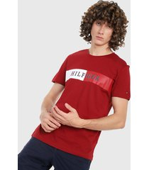 camiseta rojo-azul-blanco tommy hilfiger