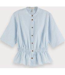 scotch & soda getailleerde blouse