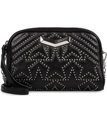 jimmy choo helia leather shoulder bag