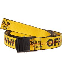 off-white man yellow and black industrial 2.0 belt