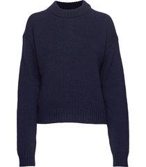 cora sweater gebreide trui blauw filippa k