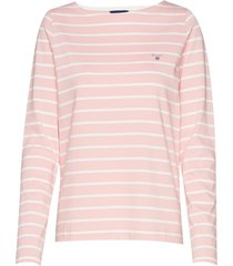 breton stripe boatneck jumper t-shirts & tops long-sleeved roze gant