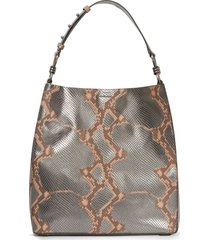 allsaints captain snakeskin embossed leather tote - (nordstrom exclusive)