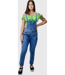 jardineira lilita jeans escura - jeans - feminino - dafiti