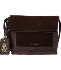 cartera pell cross chocolate hush puppies